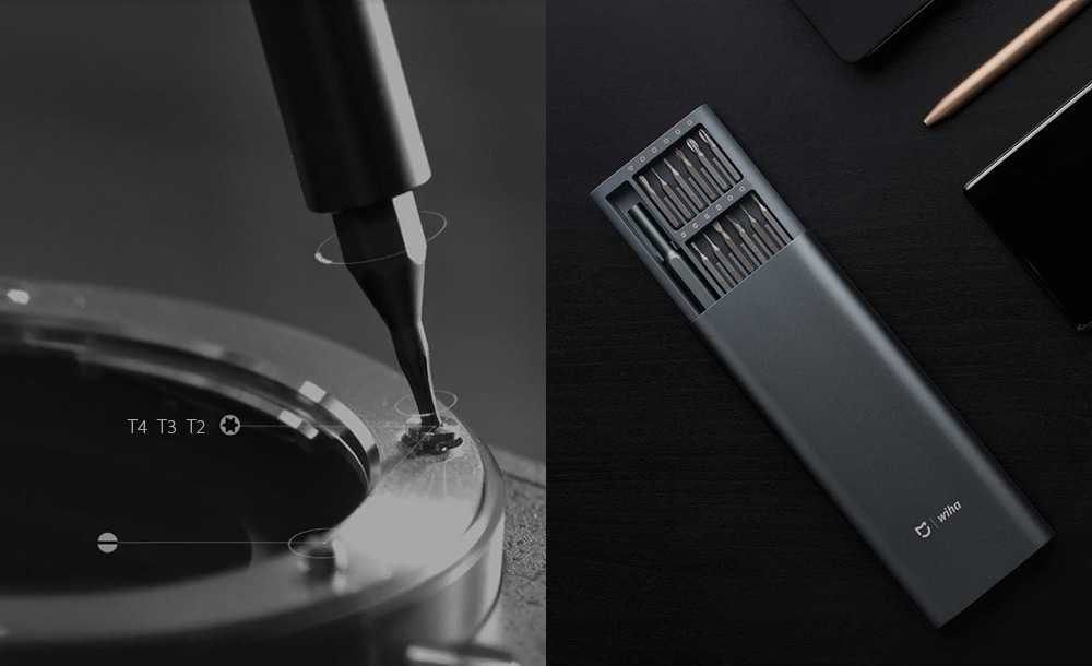 Xiaomi Wiha 24 in 1 Precision Screwdriver Kit for Repairing Work - Gray