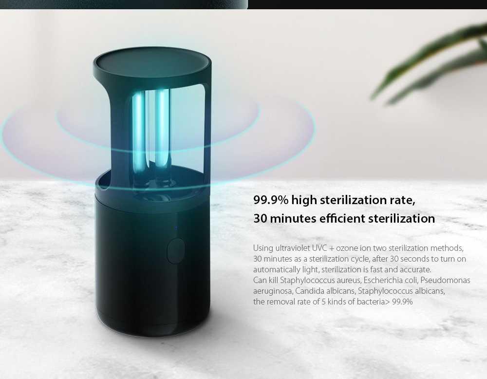 Portable UV Disinfection Lamp 99.9% high sterilization rate, 30 minutes efficient sterilization