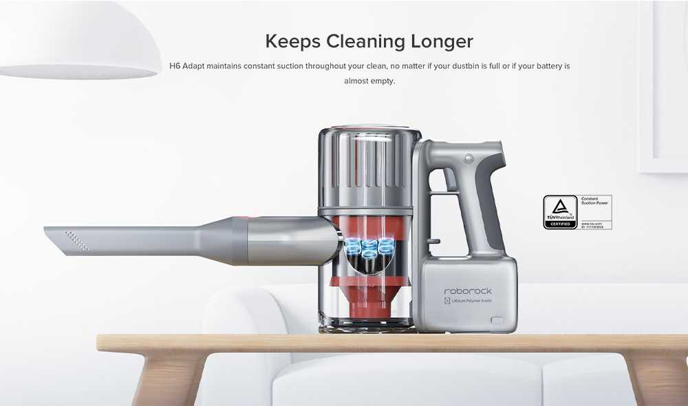 Roborock H6 Portable Wireless Handheld Vacuum Cleaner 150AW Strong Suction 420W Brushless Motor 3610mAh Battery OLED Display International Version - Space Silver --Coupon Price: 339€;Code: H63399