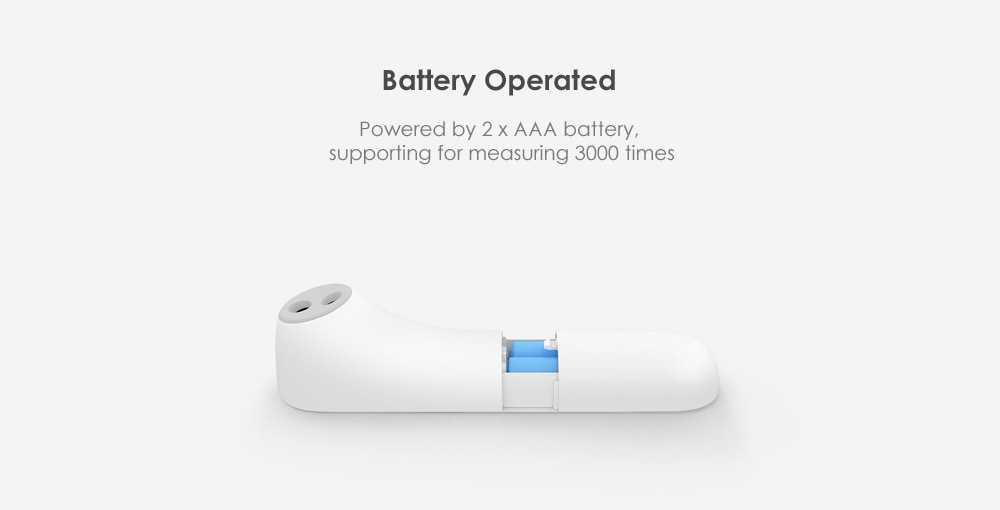 小米米家用iHealth温度计电子LED数字显示身体健康检测器-白色