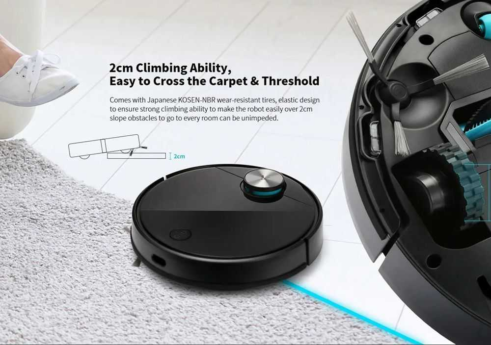 Xiaomi Viomi V3 Smart AI Robot Vacuum Cleaner 2600pa Suction 4900mAh Battery 3 Modes 550ml Water Tank With Disposable Disinfecting Rag Support 5 Maps - Black