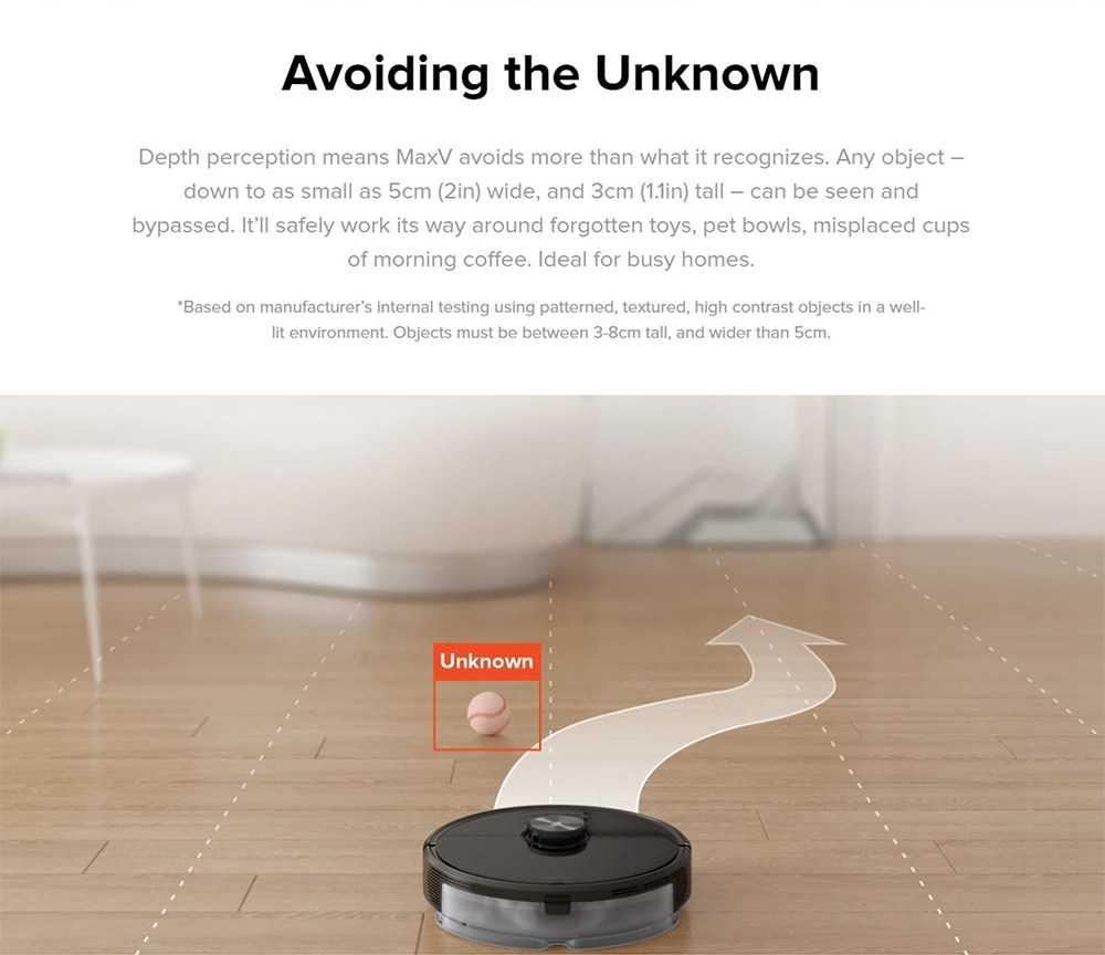 Roborock S6 MaxV Intelligent Sweeping Robot Vacuum Cleaner Laser Navigation 2500Pa Suction APP Alexa Voice Control - Black