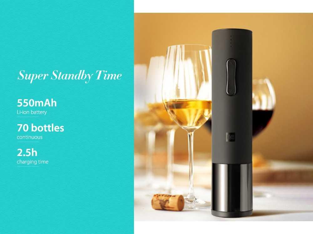huohou Creative Wine Electric Bottle Opener from Xiaomi youpin- Black