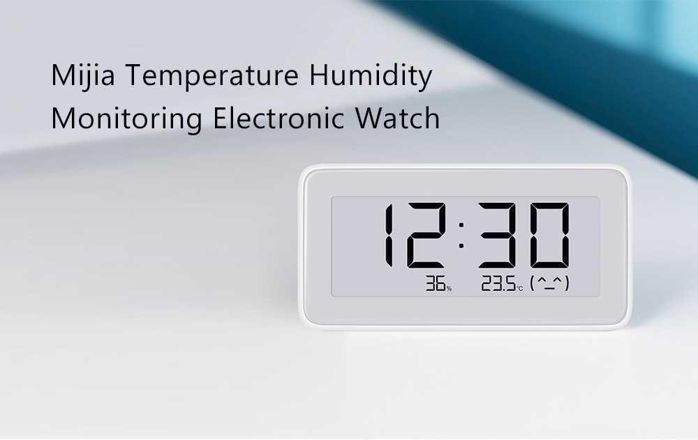 Xiaomi Mija Smart Electronic Watch Temperature Humidity Monitoring- Milk White
