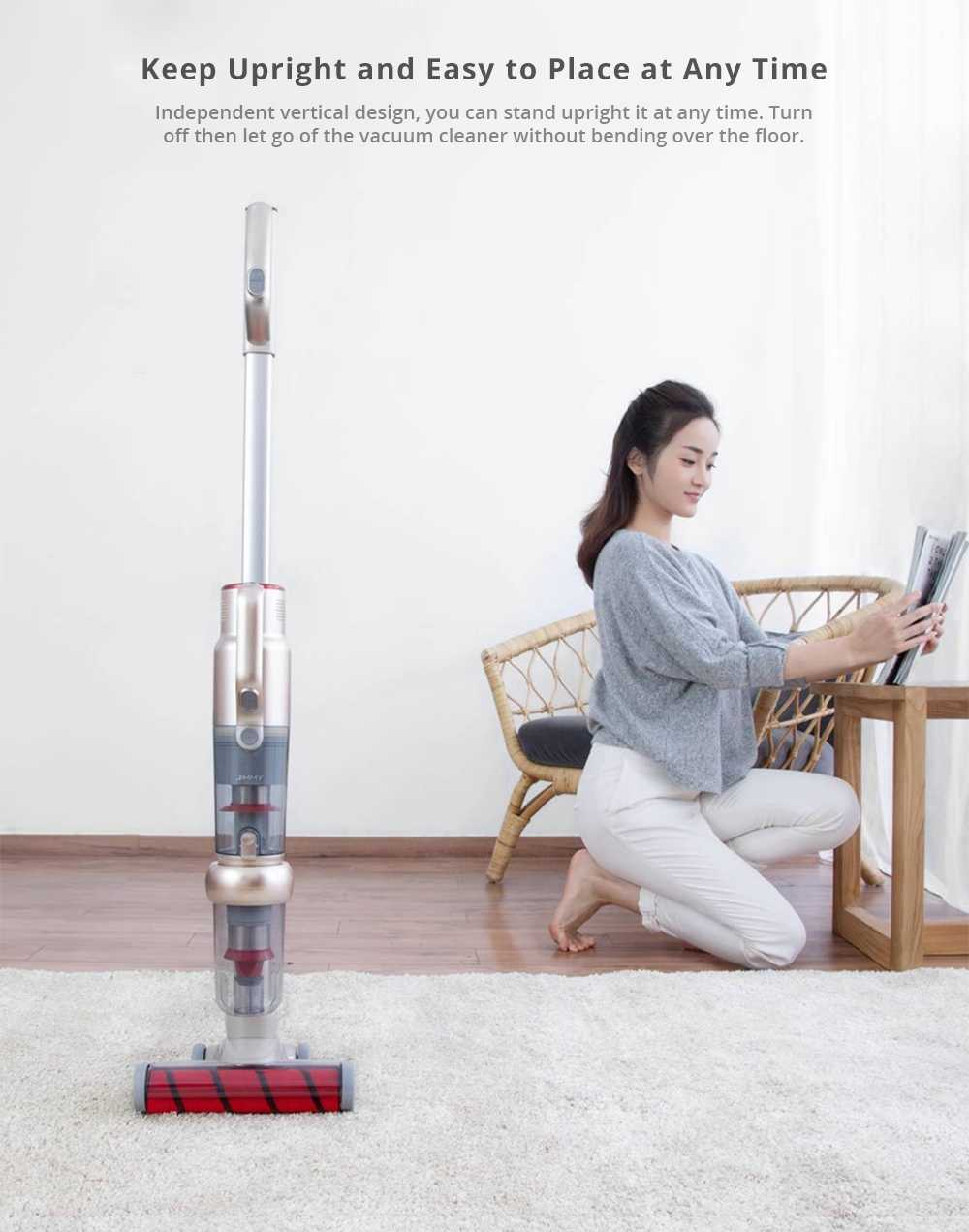 [International Version] Xiaomi LEXY JIMMY JV71 Vertical Cordless Stick Vacuum Cleaner 130AW Powerful Suction Anti-winding Hair Mite Cleaning - Champagne gold