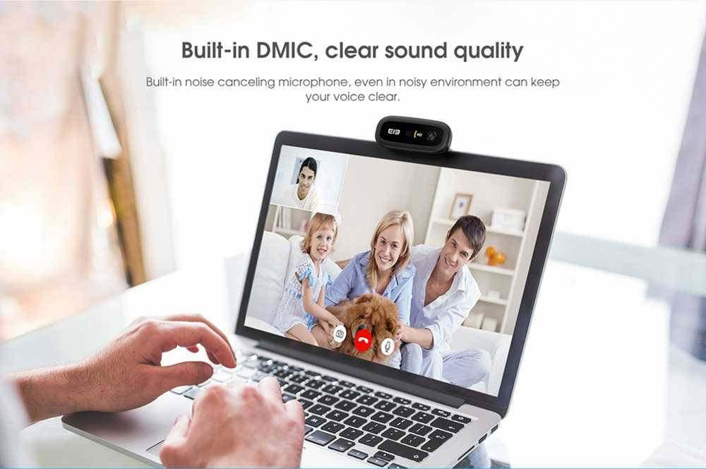 Elephone Ecam X 1080P HD Webcam 5.0 MegaPixels Auto Focus Built-in Microphone For PC Laptop - Black