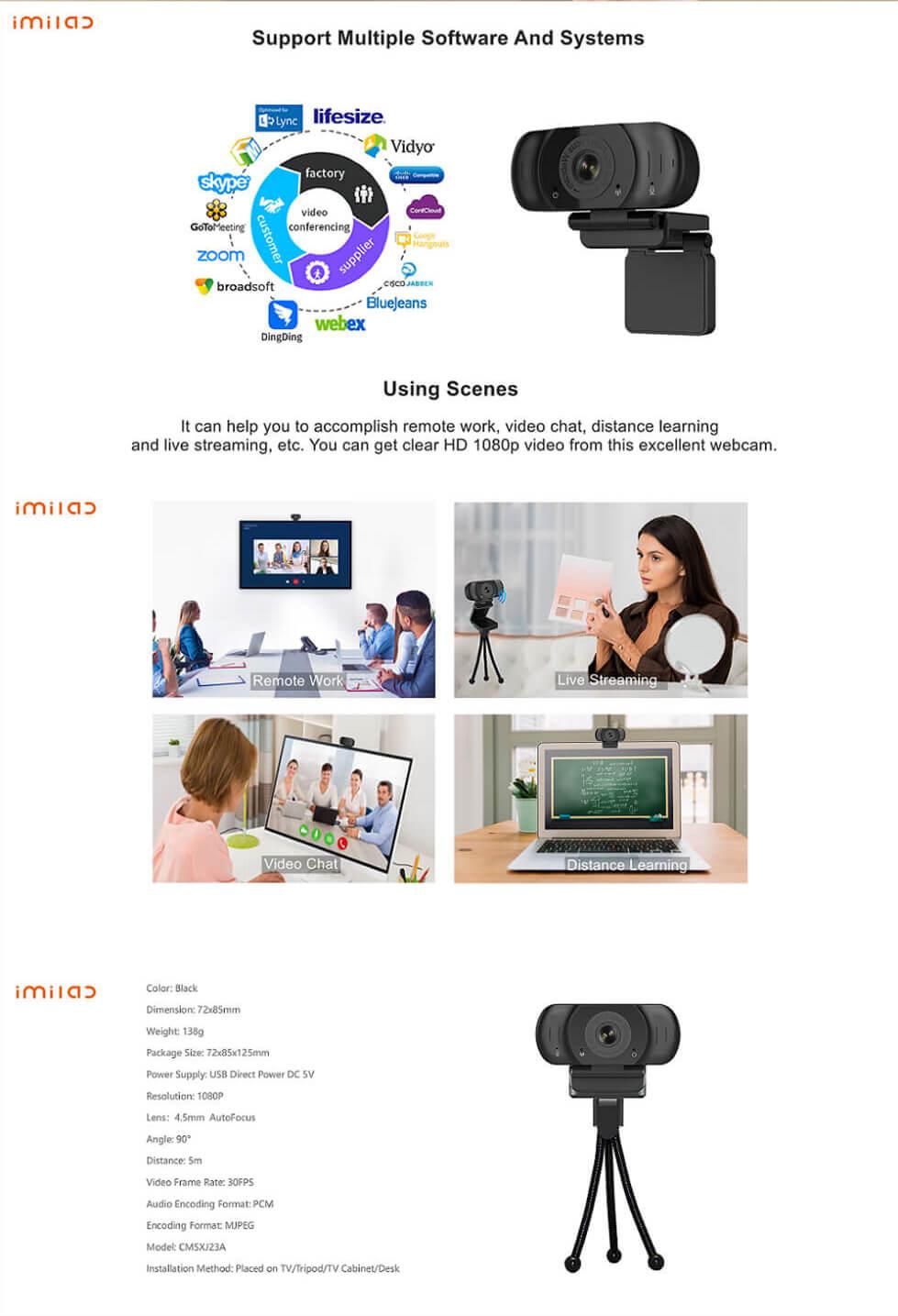 IMILAB Auto Webcam Pro W90