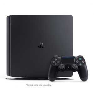 Ps4 Slim Console Standing Profile With Dualshock4